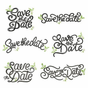 Save the Date Embroidery Design Pack