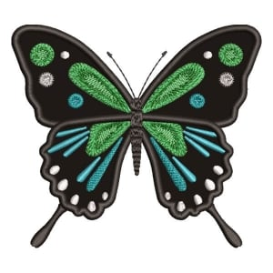 Realistic Butterfly (Applique) Embroidery Design