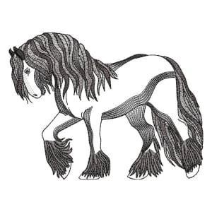 Imposing Horse (Rippled) Embroidery Design