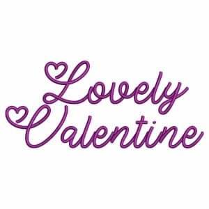 Alphabet Font Lovely Valentine Embroidery Designs Pack