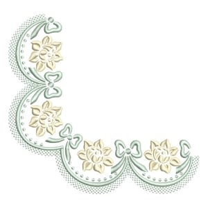 Corner Embroidery Design