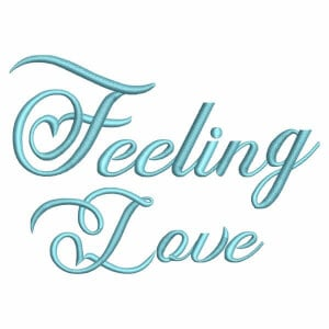 Alphabet Font Feeling Love Embroidery Design Pack