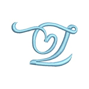 Font Feeling Love Letter Z Embroidery Design