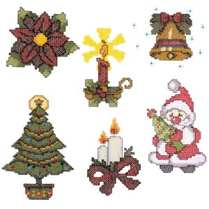 Cross Stitch Christmas Ornaments Embroidery Design Pack