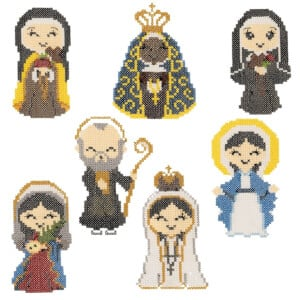 Cross Stitch Saints Embroidery Design Pack