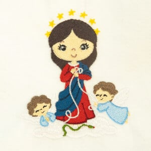 Cute Mary Untier of Knots Embroidery Design