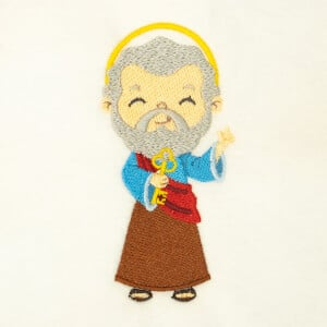 Cute Saint Peter Embroidery Design