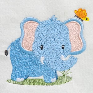 Elephant in Nature Embroidery Design