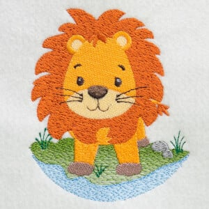 Leon in Nature Embroidery Design