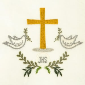 Eucharist Embroidery Design