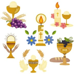 Eucharist Embroidery Design Pack