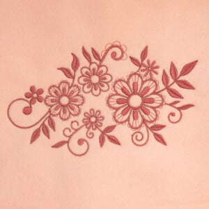 Floral Branch Embroidery Design
