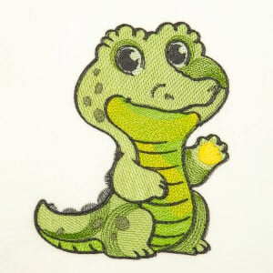 Safari Alligator (Quick Stitch) Embroidery Design