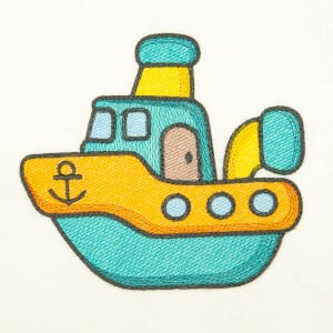 Baby Ship (Quick Stitch) Embroidery Design