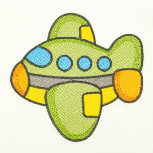 Baby Airplane (Quick Stitch) Embroidery Design