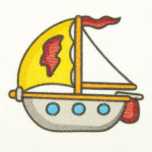 Baby Boat (Quick Stitch) Embroidery Design