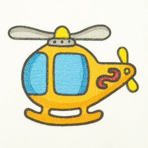 Baby Helicopter (Quick Stitch) Embroidery Design