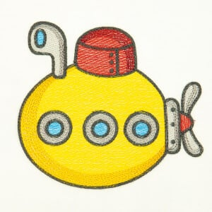 Baby Submarine (Quick Stitch) Embroidery Design
