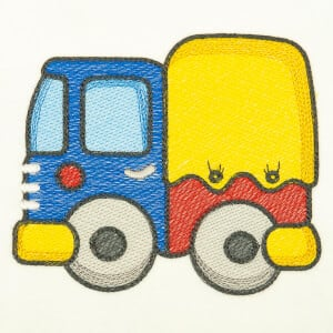Children Truck (Quick Stitch) Embroidery Design