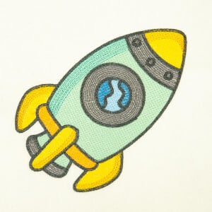 Children Rocket (Quick Stitch) Embroidery Design