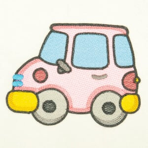 Children Car (Quick Stitch) Embroidery Design