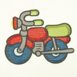 Children MotorCycle (Quick Stitch) Embroidery Design