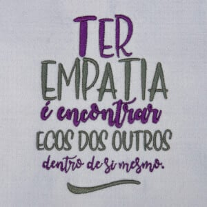 Matriz de bordado Frase empatia