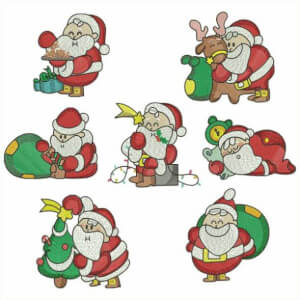 Santa Claus Embroidery Design Pack
