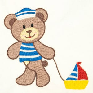 Sailor Teddy Bear Embroidery Design