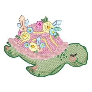 Stylized Turtle (Quick Stitch) Embroidery Design