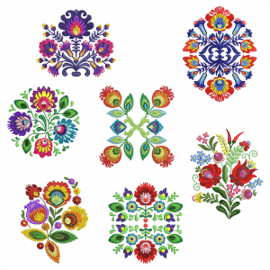 Ungaros Flowers Embroidery Design Pack
