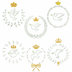 Dove Frames Embroidery Design Pack