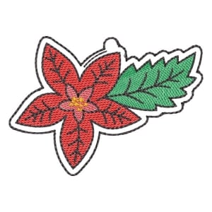 Christmas Flower  (Quick Stitch) Embroidery Design