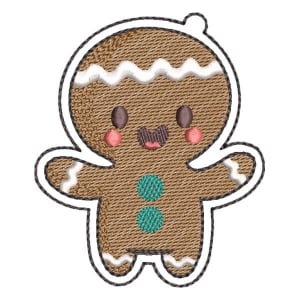 Christmas Biscuit (Quick Stitch) Embroidery Design