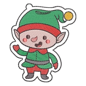 Christmas Elf (Quick Stitch) Embroidery Design