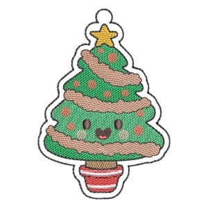 Christmas Tree (Quick Stitch) Embroidery Design