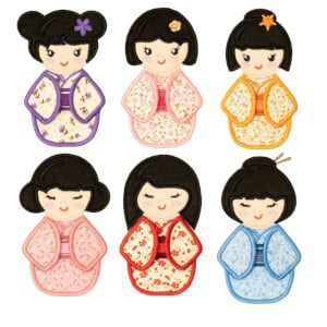 3D Geishas Embroidery Designs Pack