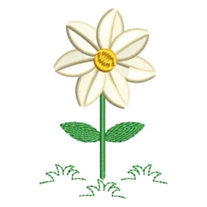 Daisy Flower Embroidery Design