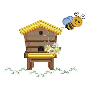 House of Bee (Applique) Embroidery Design