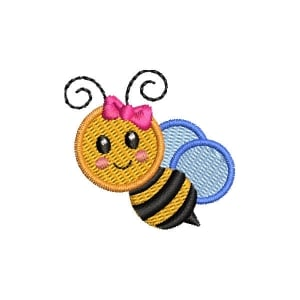Little Bee Embroidery Design