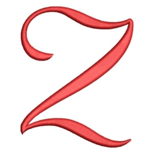 Christmas Wish Calligraphy Letter Z Embroidery Design