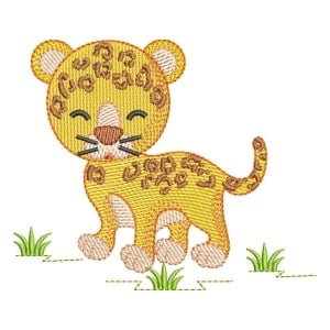 Matriz de bordado Leopardo Safari (Pontos Leves)