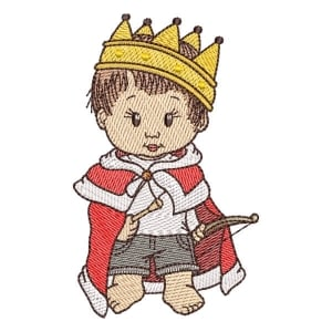 King boy Embroidery Design