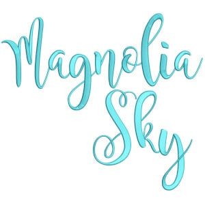 Magnolia Sky Font Embroidery Design Pack