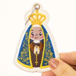 Our Lady Aparecida Keychain (In The Hoop) Embroidery Design