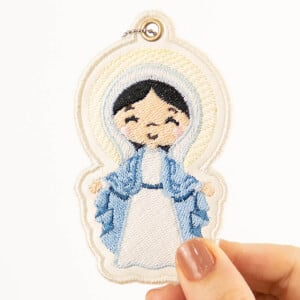 Our Lady Of Graces Keychain (In The Hoop) Embroidery Design