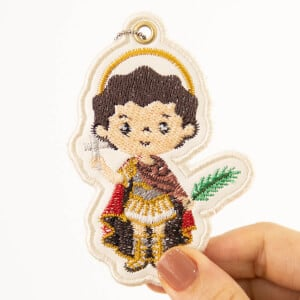 Saint Expeditus Keychain (In The Hoop) Embroidery Design