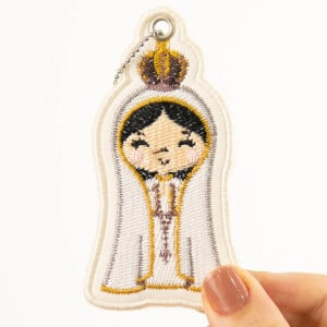 Our Lady Keychain (In The Hoop) Embroidery Design