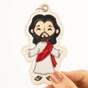 Jesus Christ Keychain (In The Hoop) Embroidery Design