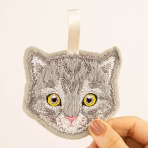 American Curl Cat Keychain (In The Hoop) Embroidery Design